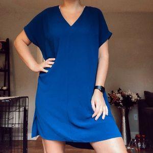 Blue t shirt dress